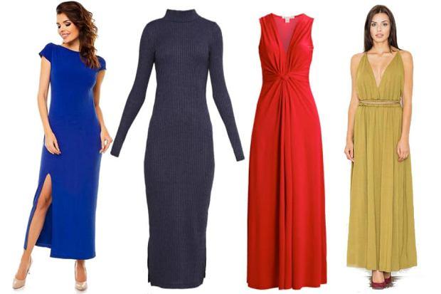 fot. długie sukienki w różnych kolorach