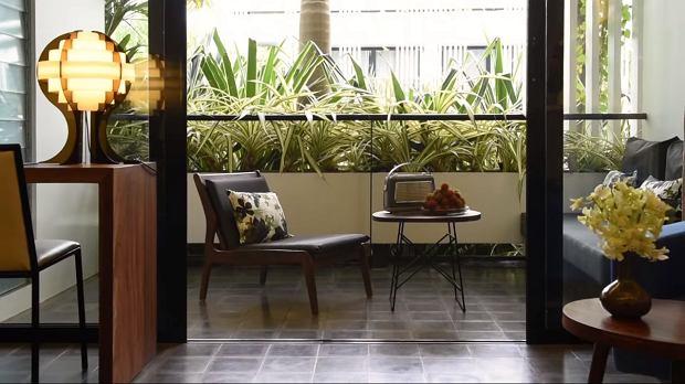 Wnętrze Viroth's Hotel w Kambodży