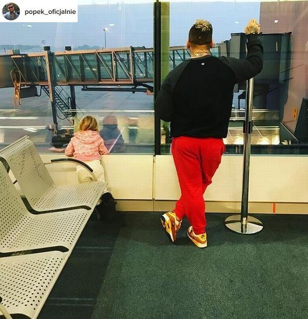 Popek na wakacjach z córką