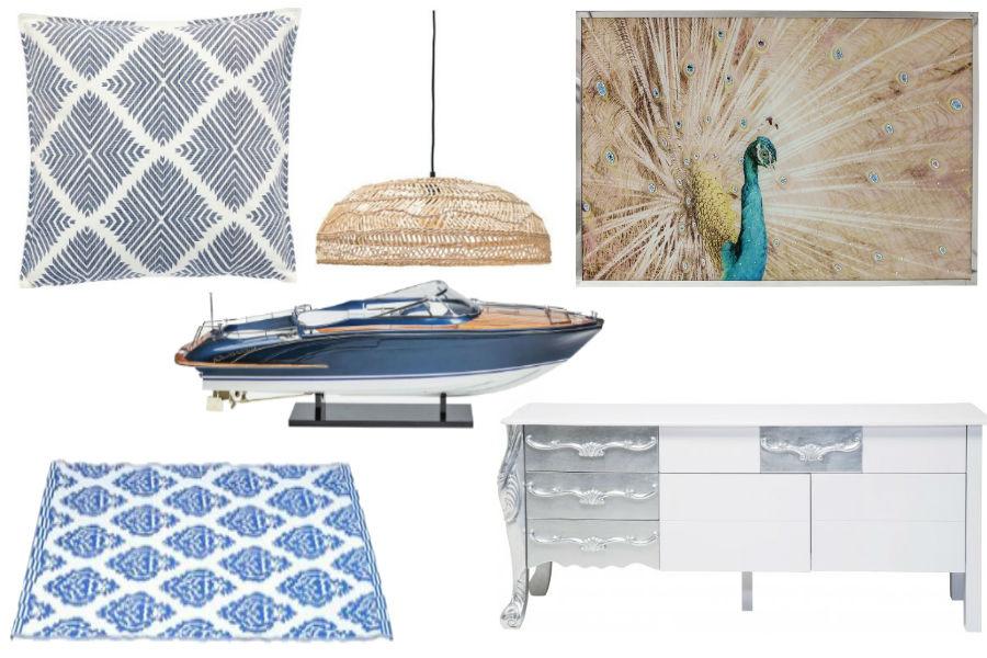 dodatki, mieszkanie, wnętrza, styl śródziemnomorski, styl grecki