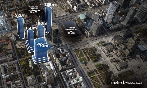 Wieżowce w centrum