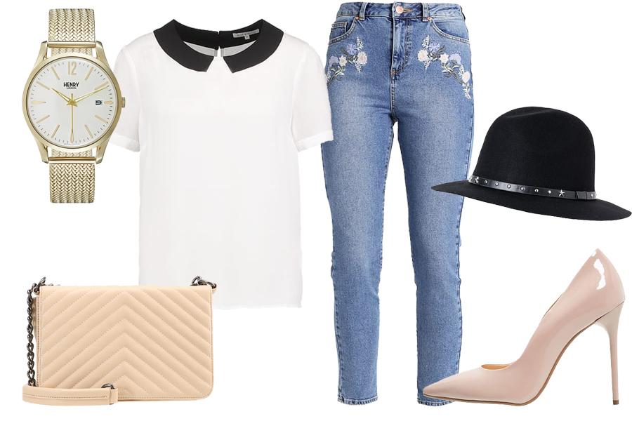 Stylizacja mom jeans / Kolaż / Materiały partnera