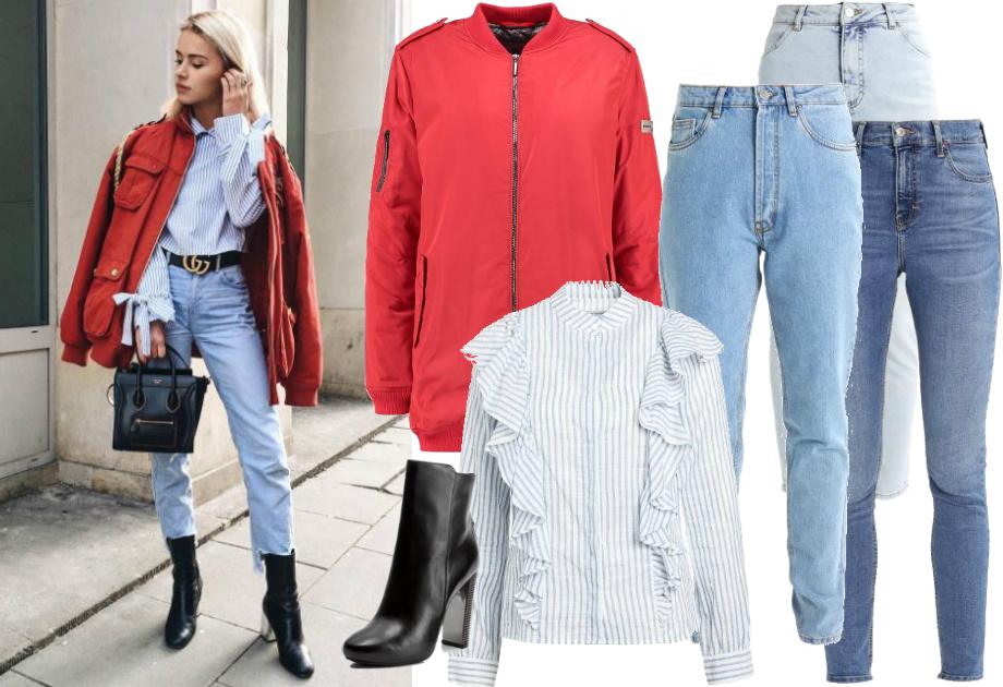 Maffashion - jeansy z wysokim stanem