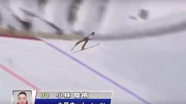 Fenomenalny lot Kobayashiego! Japończyk przeskoczył skocznie, mimo że hamował w powietrzu