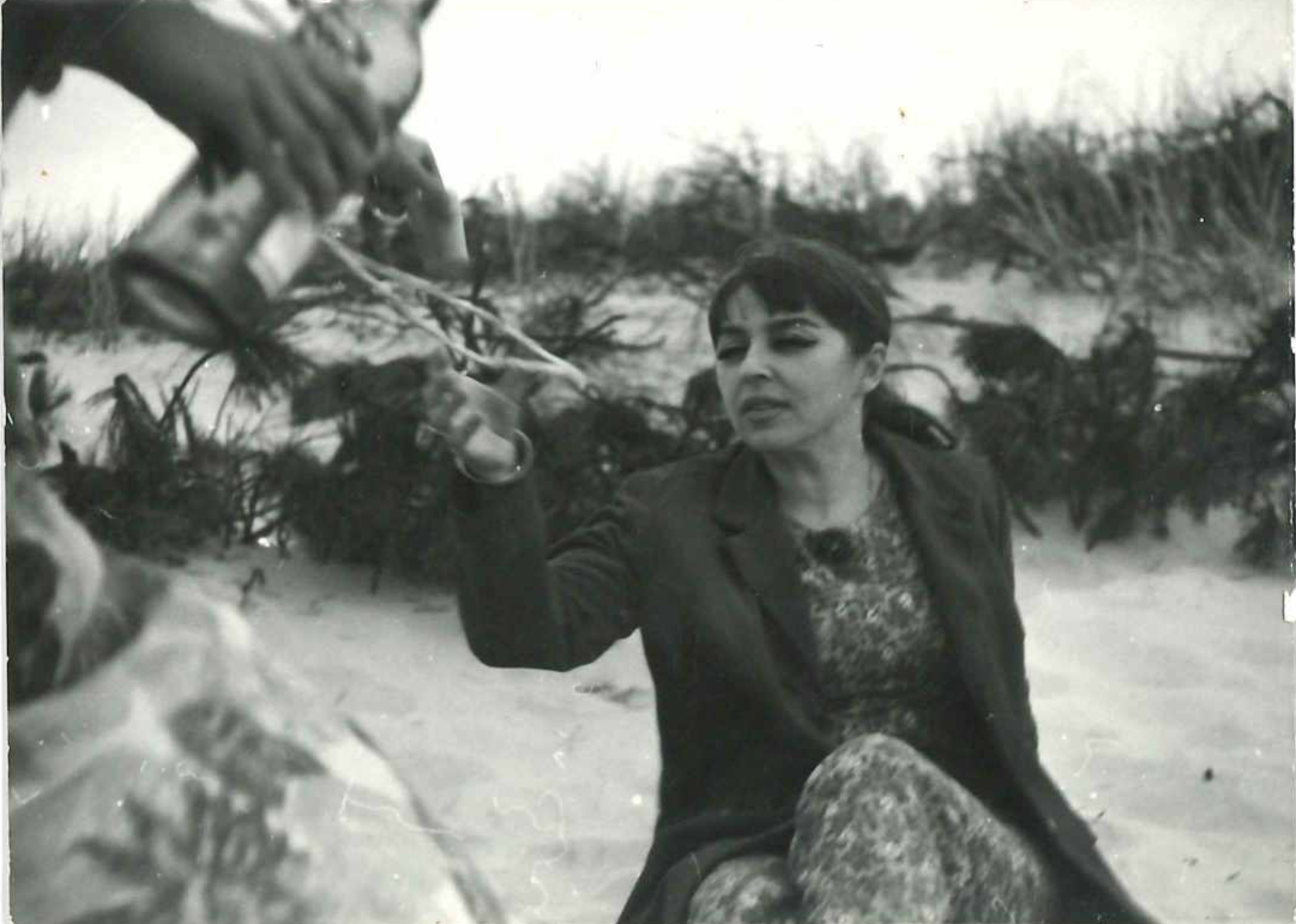 Kalina Jędrusik, imieniny na plaży, rok 1969 (fot. archiwum prywatne)