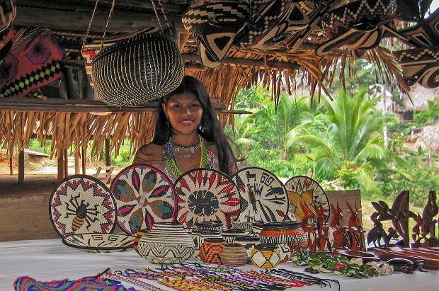 Odwiedziny w wiosce Indian Embera Drua
