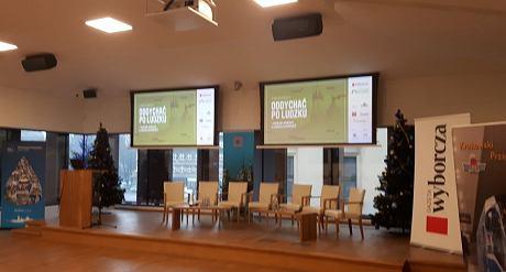 Sala Miedziana w Krzysztoforach. Czekamy na rozpoczęcie konferencji.