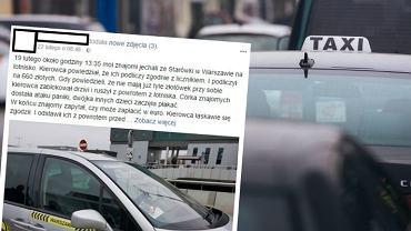 Wzięli taksówkę z centrum na Okęcie, mieli zapłacić 660 zł. Kierowca zablokował drzwi