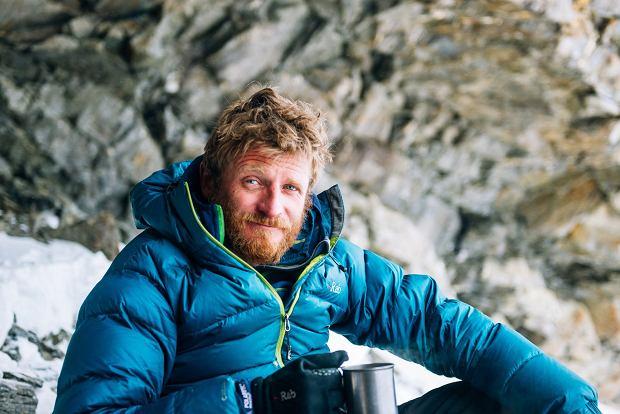 Tomasz Mackiewicz resting in Camp 1 Nanga Parbat