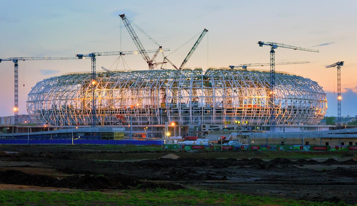 Mordovia Arena w Sarańsku - jeden ze stadionów Mistrzostw Świata w piłce nożnej 2018 w Rosji (fot. Pavel Protchenko/commons.wikimedia.org/CC BY-SA 4.0)