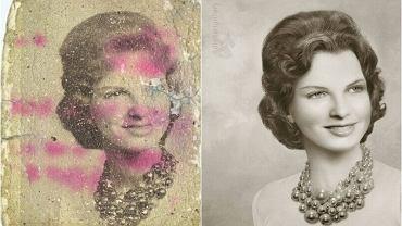 Tych zdjęć teoretycznie nie dało się już uratować. Ona dała im nowe życie