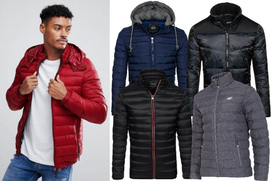 Kolaż / Pikowane kurtki męskie / Materiały partnerów