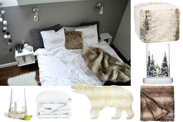 Przytulna, zimowa sypialnia