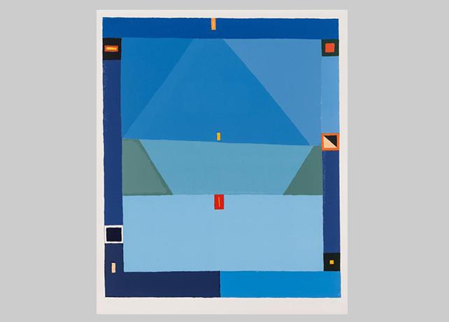 Jerzy Nowosielski, bez tytułu (abstrakcja niebieska), sygn. XIIIXV Fot. CC BY 3.0