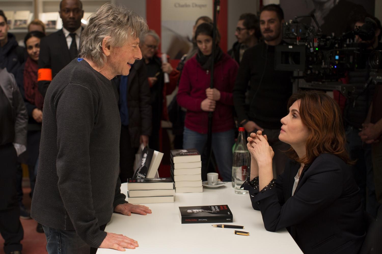 Roman Polański z żoną Emmanuelle Seigner na planie filmu 'Prawdziwa historia' (mat. promocyjne/Monolith Films)