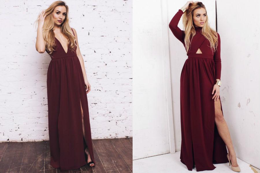 sukienka burgund