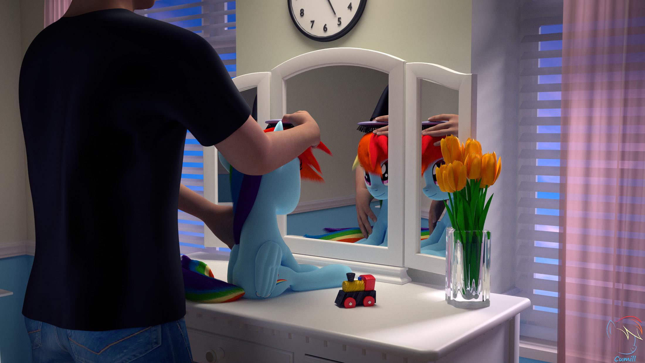Rainbow Dash zajmuje się kontrolą pogody w Ponyville (fot. Kamil 'Cumill' Kowalczyk)