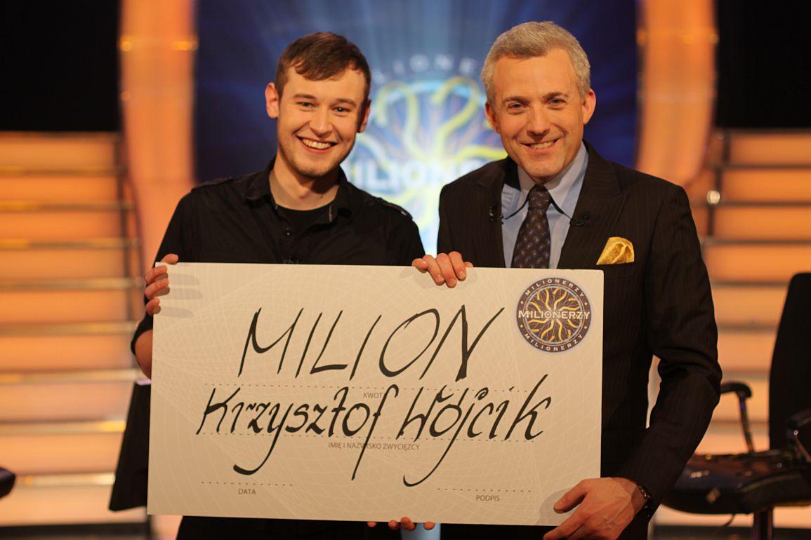 Milionerzy pierwszy milion  n/z: Krzysztof Wojcik, Hubert Urbanski foto: TVN