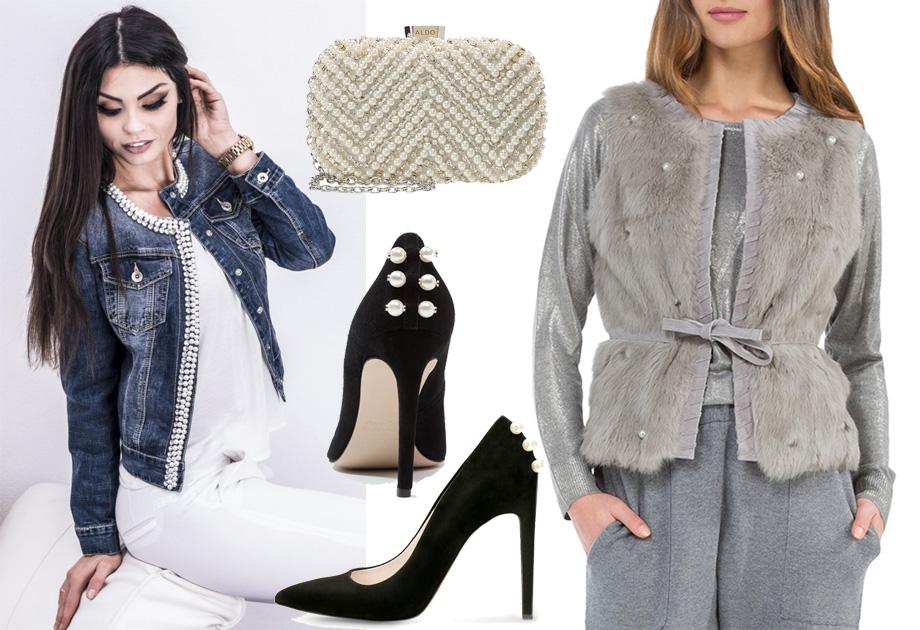 Ubrania i dodatki z perłami