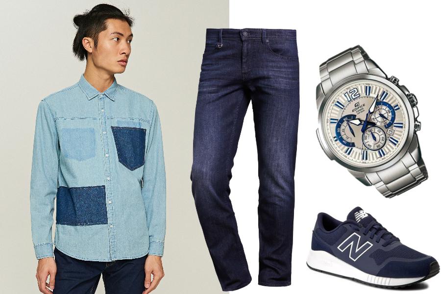 Jeans total look / kolaż redakcja, materiały partnerów