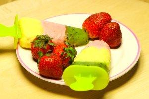 Domowe lody owocowe z mascarpone i miodem