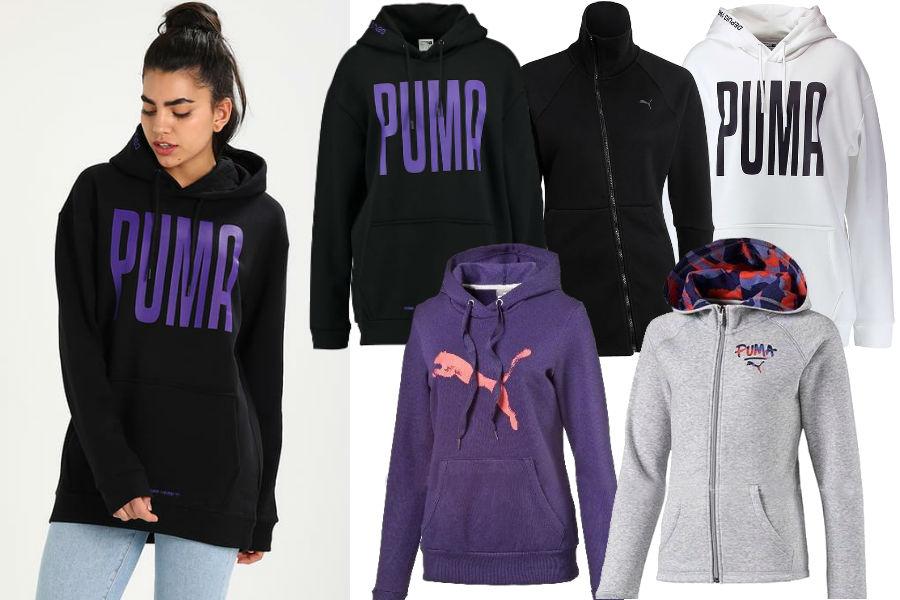 Kolaż / Bluzy marki Puma / Materiały partnerów