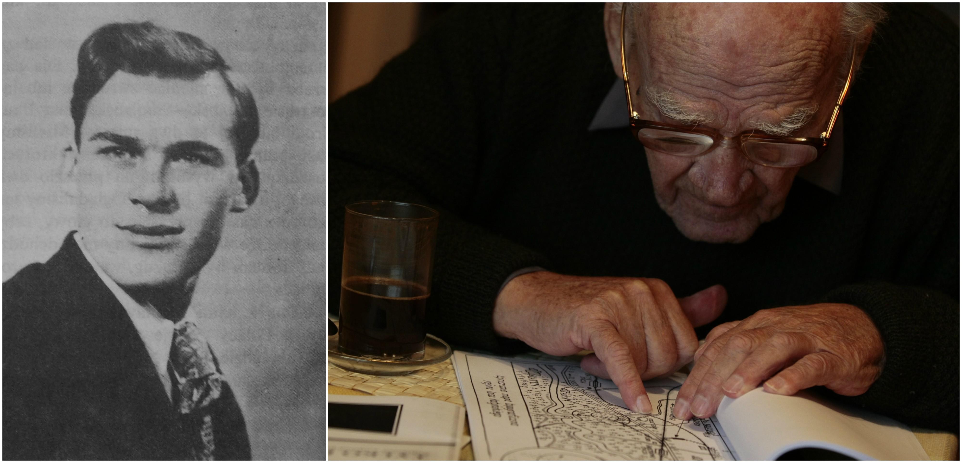 Teofil Rubasiński w 1939 i w 2010 r. To on jako pierwszy trafił na masowe groby polskich oficerów w Katyniu (fot. Wikimedia.org / Domena publiczna / Tomasz Kamiński / Agencja Gazeta)