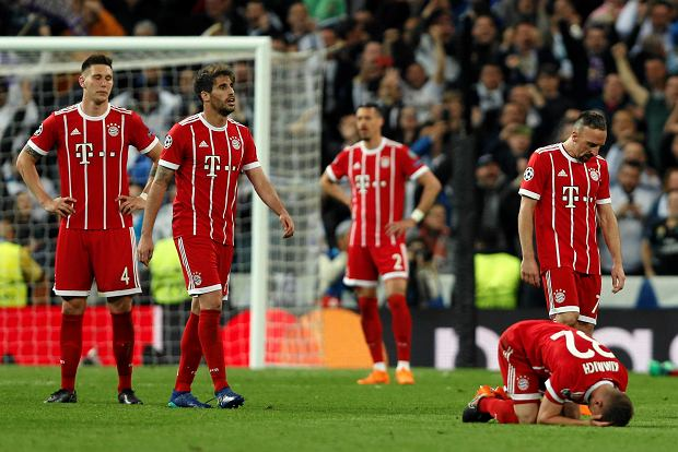 e612831b2 Bayern players react after the Champions League semifinal second leg soccer  match between Real Madrid and