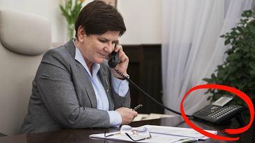 Szydło pochwaliła się zdjęciem z rozmowy z premier May. Ale spójrzcie na telefon