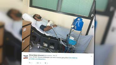 Gang nastolatków zaatakował Polaka. Obronił go sklepikarz - i sam jest teraz w szpitalu