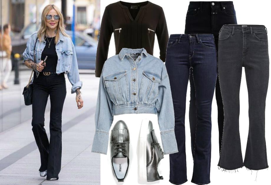 Maja Sablewska - jeansy z wysokim stanem