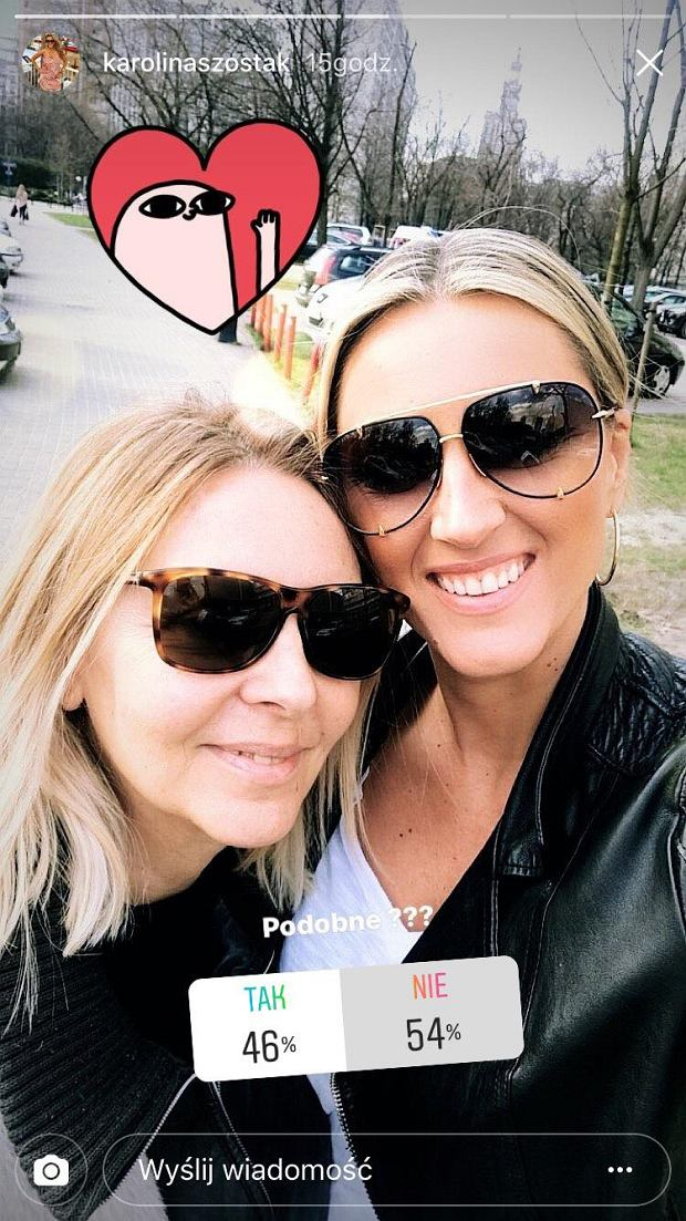 Karolina Szostak z mamą