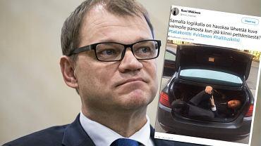 Tą ucieczką żyje cała Finlandia. Wiceminister z tajnego spotkania odjechał w bagażniku