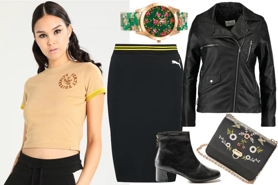 Puma Fenty - bluzka, spódnica / kolaż redakcja, materiały partnerów