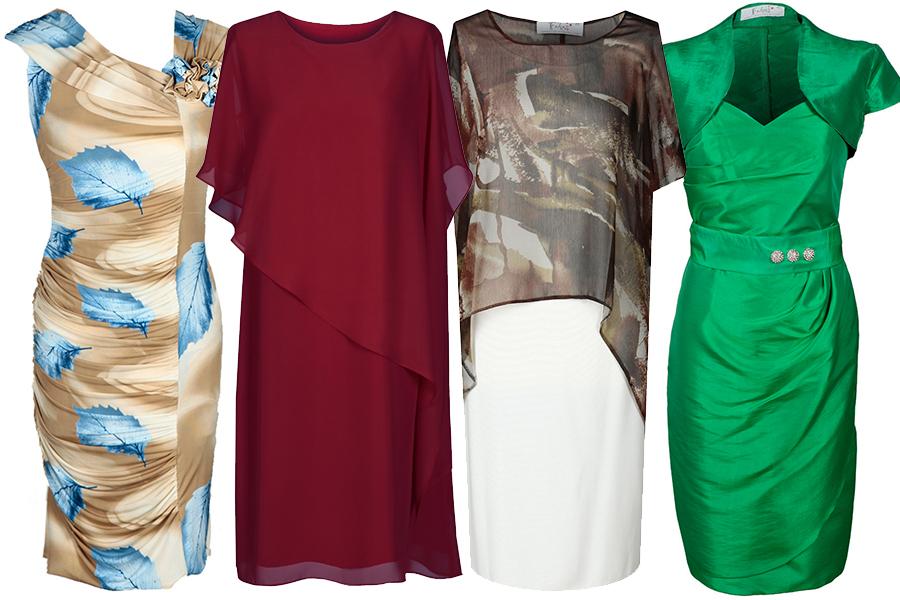 Sukienka z marszczeniami i warstwami