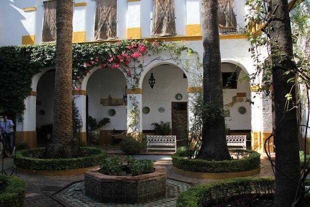 Patio w Palacio de las Duenas