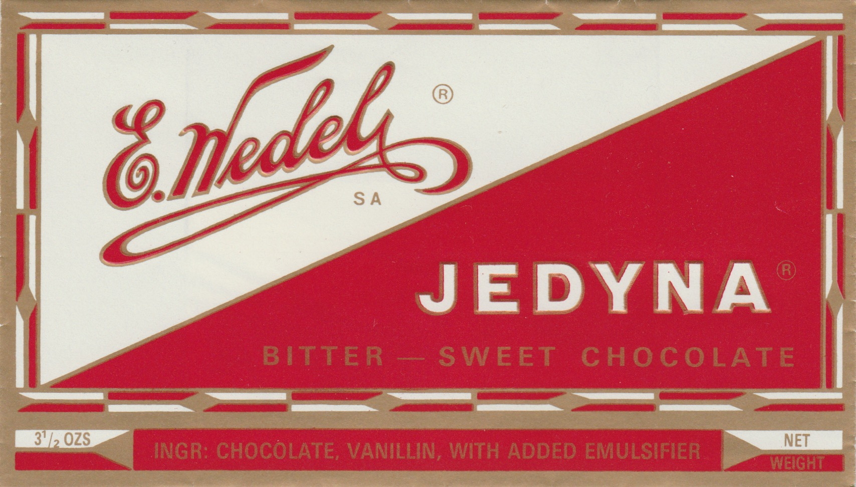 Opakowanie wedlowskiej czekolady zaprojektowane przez Karola Śliwkę (fot. archiwum prywatne)