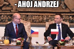 Prezydent Duda odwiedził też Czechy. Takiej okazji nie można było zmarnować [MEMY TYGODNIA]