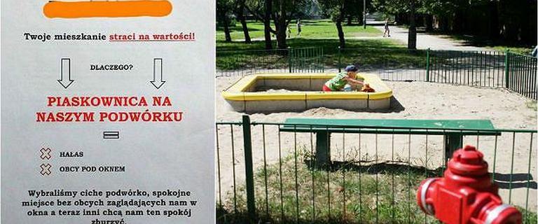 """Na warszawskim osiedlu nie chcą piaskownicy. """"Mieszkania stracą na wartości"""""""