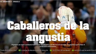 """Argentyńczycy nazwali swoich piłkarzy """"rycerzami"""". Symbol porażki"""