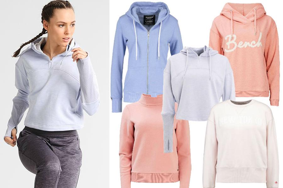 Kolaż / Pastelowe ubrania sportowe / Materiały partnera