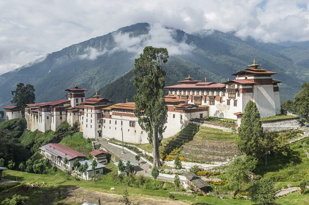 Trongsa Dzong w Bhutanie