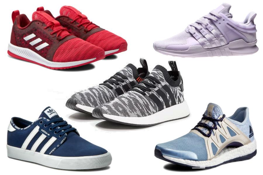 Kolaż / Buty sportowe Adidas z wyprzedaży / Materiały partnera