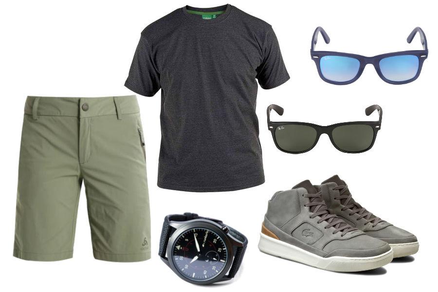 okulary męskie przeciwsłoneczne / kolaż / materiały partnera