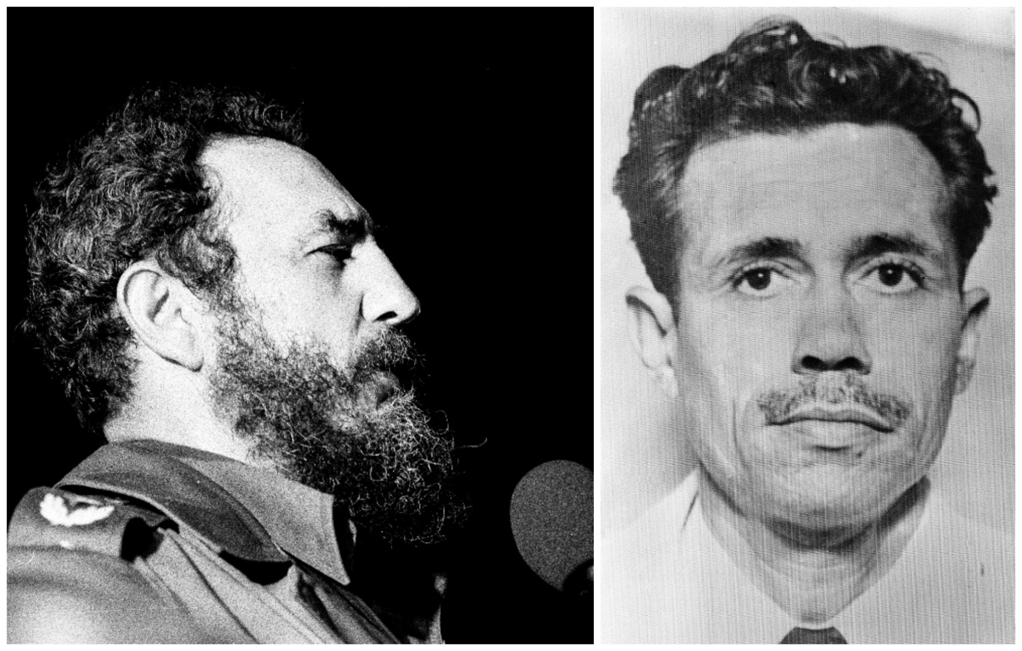 W 1961 r. Antulio Ramirez Ortiz (z prawej) wyposażony w nóż do steków udał się do kokpitu. Przystawiając ostrze do gardła pilota, zażądał, by niezwłocznie przetransportowano go na Kubę, w której od pewnego czasu rządził już Fidel Castro (z lewej) (fot. Marcelo Montecino / Wikimedia.org / CC BY-SA 2.0 / Eastnews)