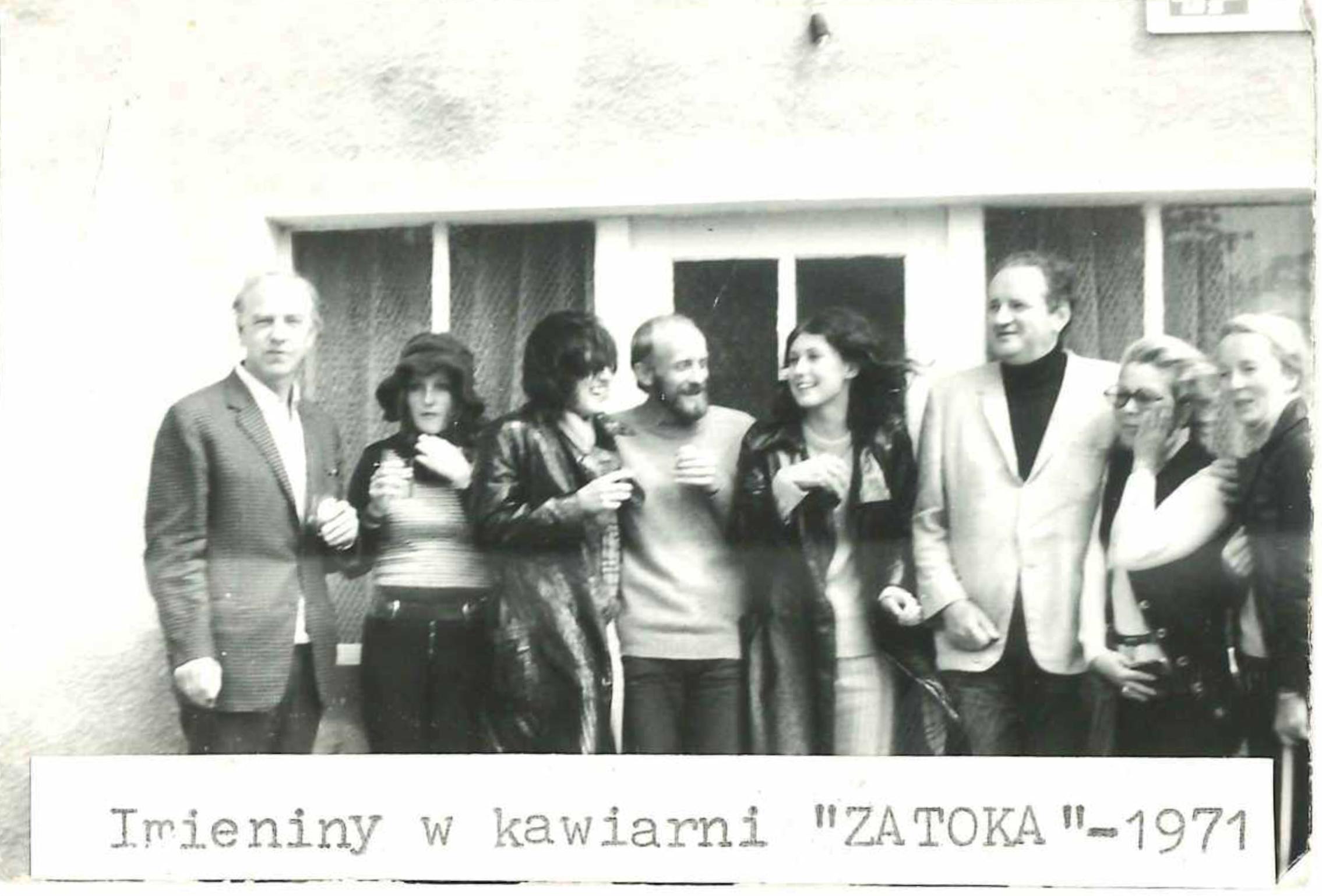 Dygat i inni - imieniny w kawiarni Zatoka 1971 rok (fot. archiwum prywatne)