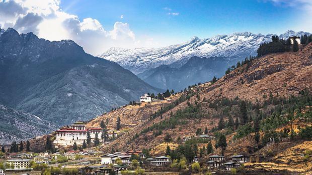 Górski krajobraz Bhutanu
