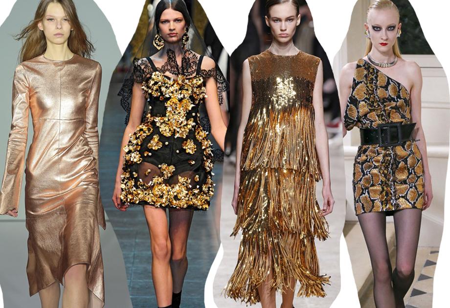06a27950e6 5 sposobów na złotą sukienkę. Inspiracje z wybiegów