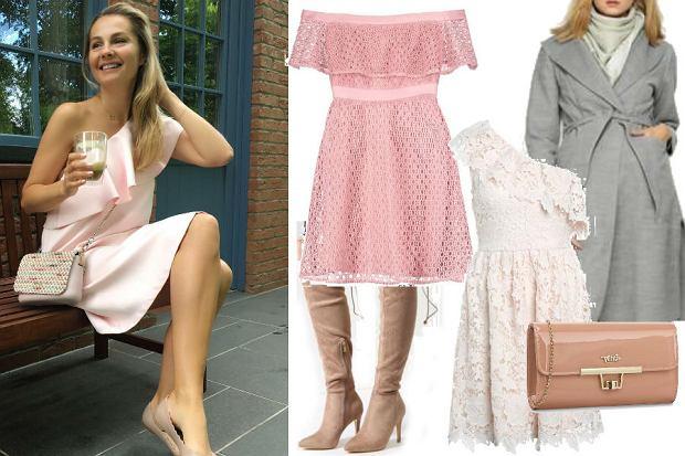 fot. Instagram @malgosia_socha/ Małgorzata Socha/różowa sukienka z sieciówki