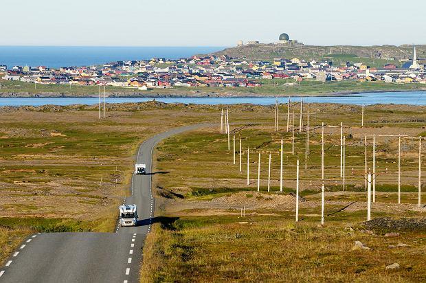 Miejscowość Vardo na trasie Varanger